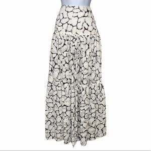 AJE Tiered Eyelet Floral Maxi Skirt 6